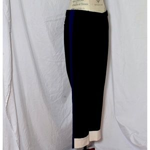 Tux-style pants with white cuffs